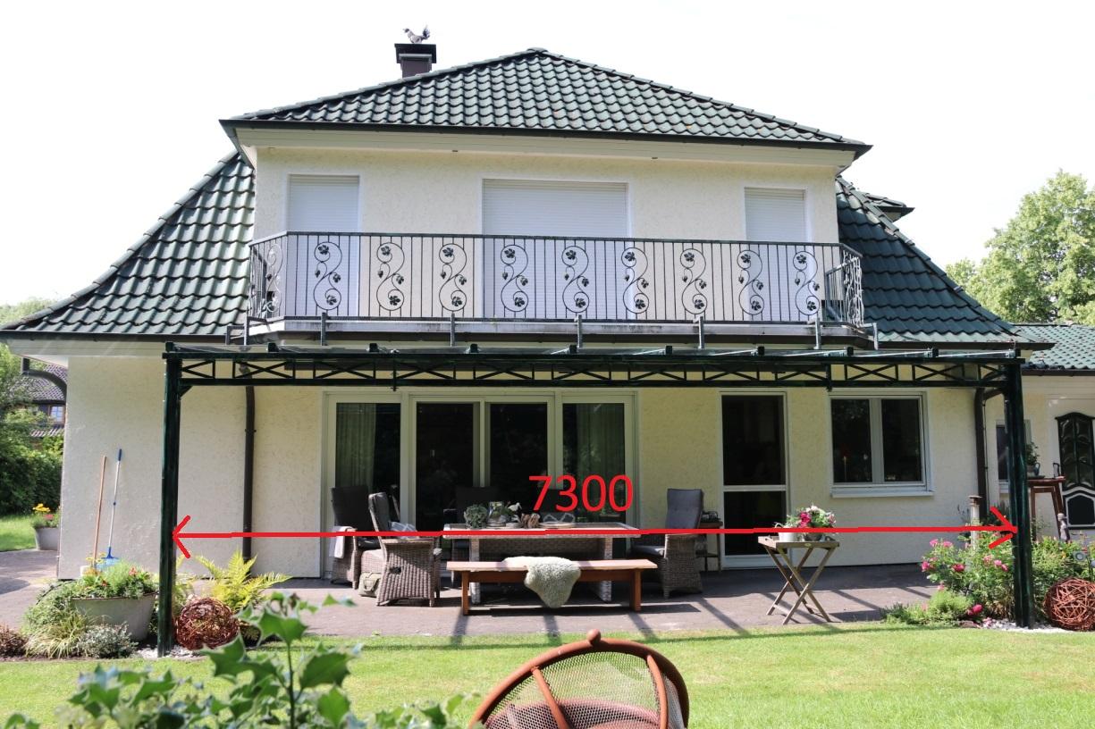 Terrassenüberdach ca.7300 mm Spannweite